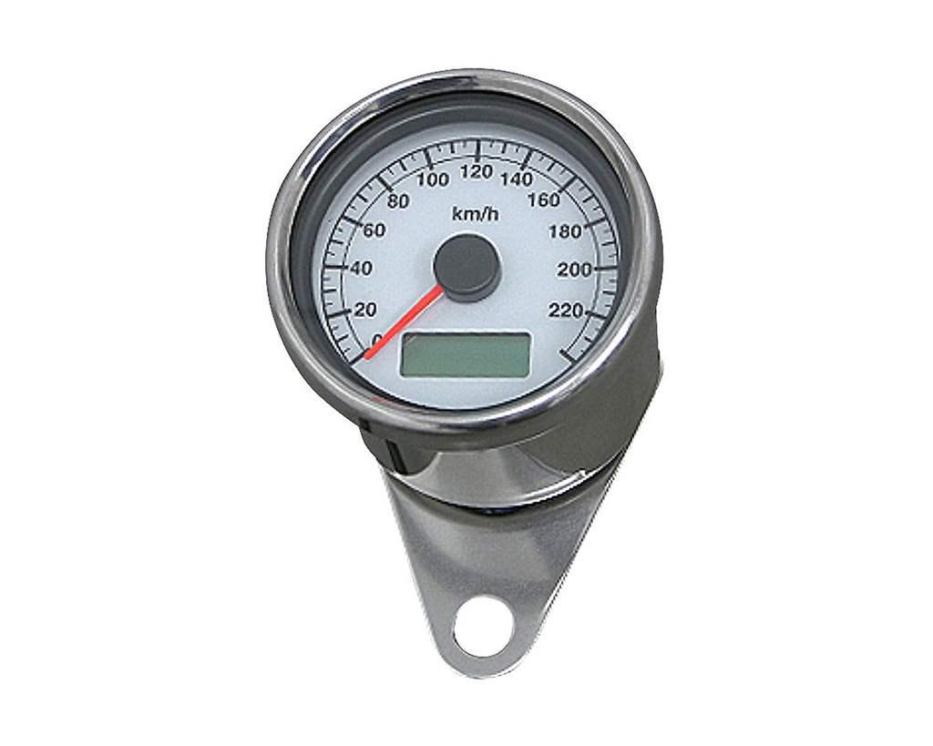 60mm アジャスタブルスピードメーター ステンレス 白盤 白光 NEO FACTORY(ネオファクトリー)