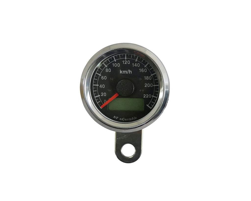 48mm インジケーター付きスピードメーター ステンレス 黒盤 白光 NEO FACTORY(ネオファクトリー)