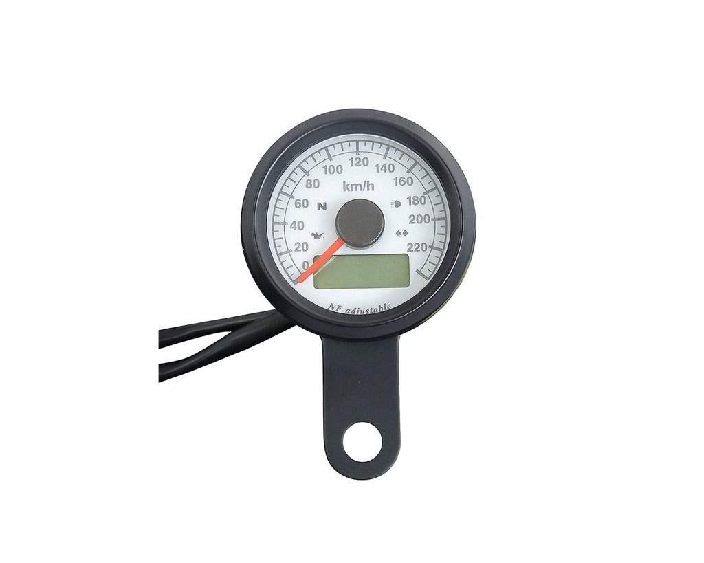 48mm インジケーター付きスピードメーター ブラック 白盤 橙光 NEO FACTORY(ネオファクトリー)