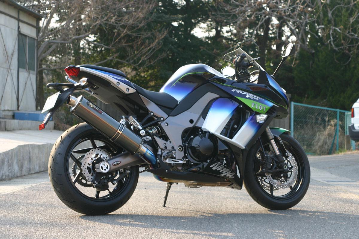 Ninja1000/ABS(ニンジャ)14年 DLCチタン フルエキゾーストマフラー 4-1SC ノジマエンジニアリング(NOJIMA ENGINEERING)