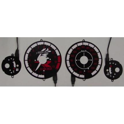 ELメーターパネル(01-07)スペシャルブラックバージョン ODAX(オダックス) GSX1300R(隼)