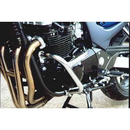 ゼファー750(ZEPHYR) エンジンガード スチール製 ブラック レンテック(RENNTEC)