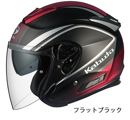 ASAGI(アサギ)CLEGANT(クレガント)フラットブラック XXL(62cm以上)インナーサンシェード付オープンヘルメット OGK