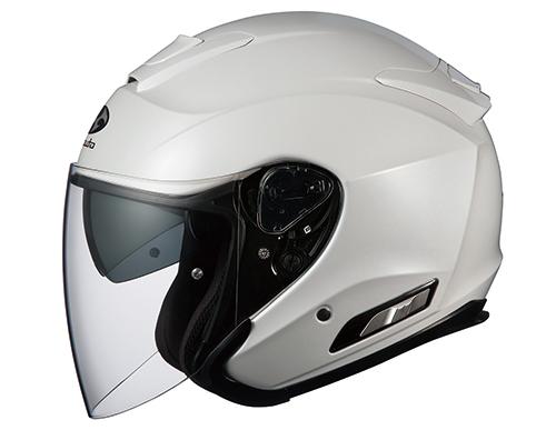 ASAGI(アサギ) パールホワイト Mサイズ インナーサンシェード付オープンヘルメット OGK