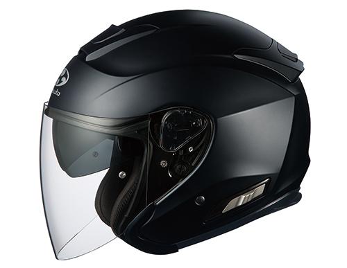 ASAGI(アサギ) フラットブラック XSサイズ インナーサンシェード付オープンヘルメット OGK