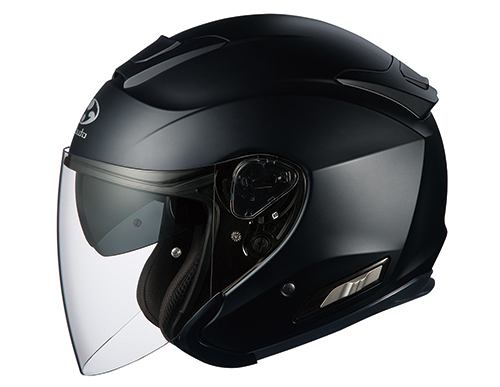 ASAGI(アサギ) フラットブラック Sサイズ インナーサンシェード付オープンヘルメット OGK