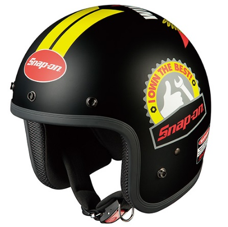 FOLK Snap-on(フォーク・スナップオン)EMBLEM-2 フリーサイズ ジェットヘルメット OGK