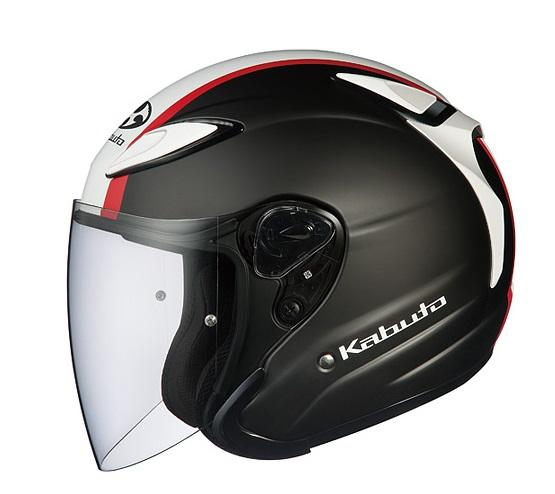 AVAND2 ESCAPE(アヴァンド・ツー・エスケープ)フラットブラックホワイトレッド Lサイズ(59-60cm)ジェットヘルメット OGK