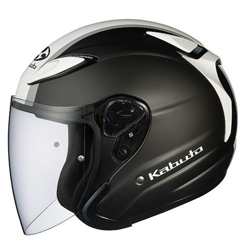 AVAND2 ESCAPE(アヴァンド・ツー・エスケープ)フラットブラックホワイトグレー Lサイズ(59-60cm)ジェットヘルメット OGK