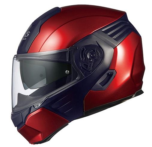KAZAMI(カザミ)シャイニーレッド/ブラック Sサイズ システムヘルメット OGK