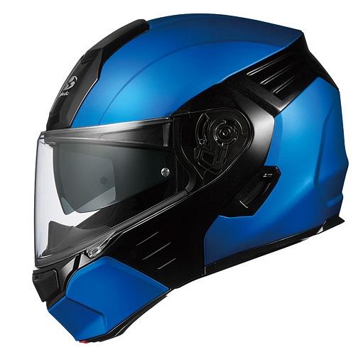 KAZAMI(カザミ)フラットブルー/ブラック Mサイズ システムヘルメット OGK