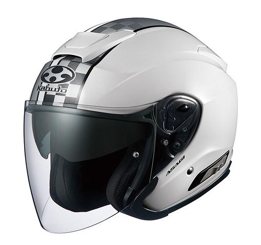 ASAGI(アサギ)SPEED(スピード)ホワイト Sサイズ インナーサンシェード付ジェットヘルメット OGK