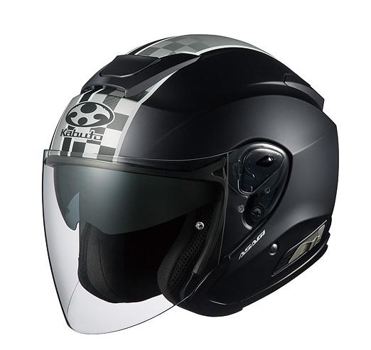 ASAGI(アサギ)SPEED(スピード)フラットブラック Lサイズ インナーサンシェード付ジェットヘルメット OGK