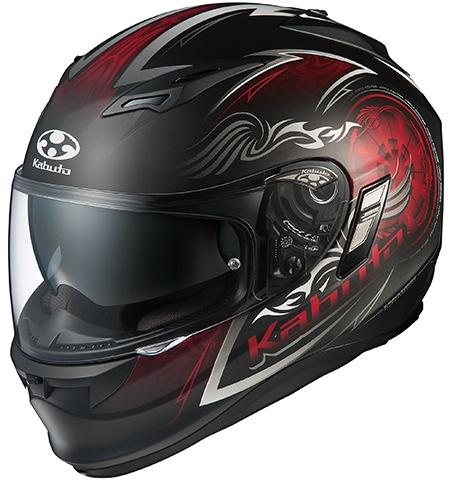 カムイ2 ブレイズ フルフェイスヘルメット フラットブラックレッド Sサイズ OGK