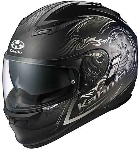 カムイ2 ブレイズ フルフェイスヘルメット フラットブラックシルバー Sサイズ OGK