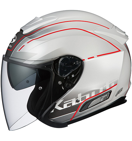 アサギ ビーム インナーサンシェード付オープンヘルメット パールホワイト Sサイズ OGK
