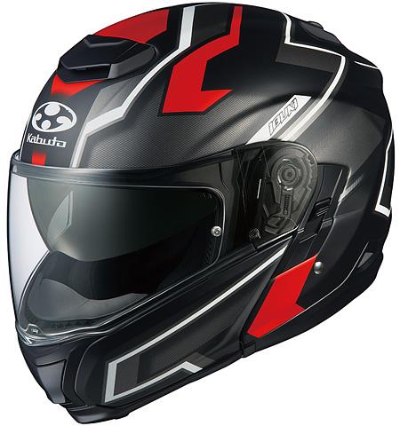 イブキ ダーク システムヘルメット フラットブラックレッド Sサイズ OGK