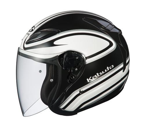 アヴァンド2 ステイド ホワイトブラック Sサイズ ジェットヘルメット OGK(オージーケー)