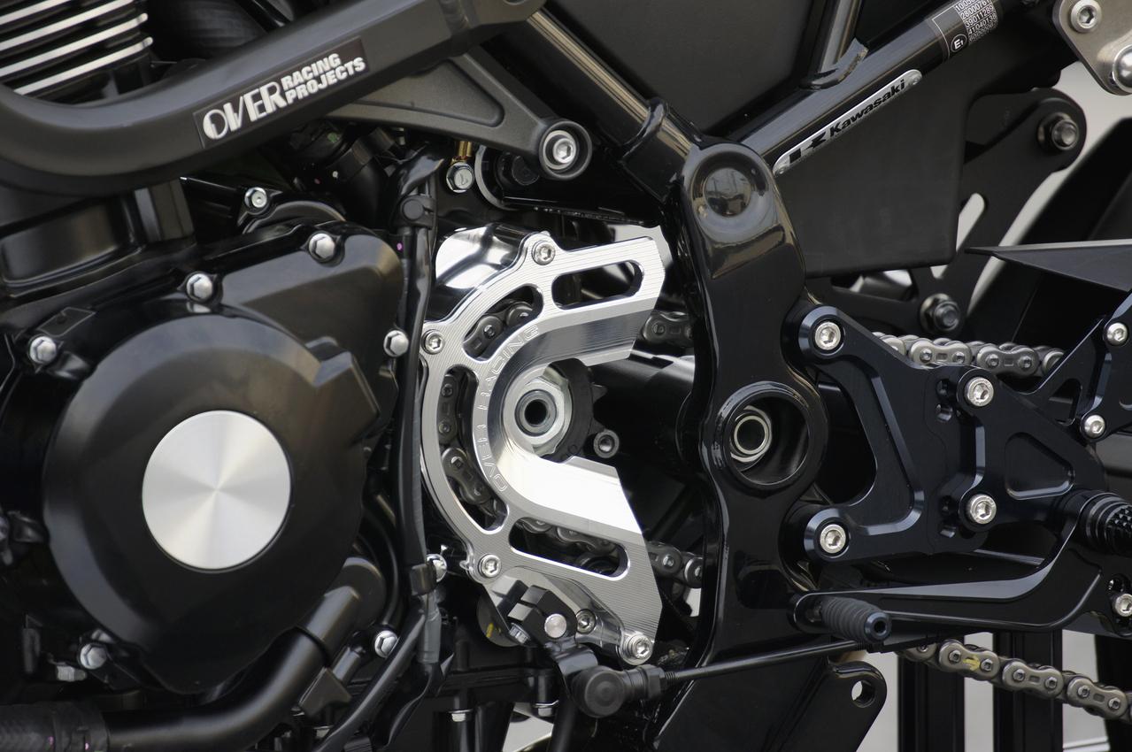 Z900RS スプロケットカバー チェンジアシスト付 シルバー OVER(オーバーレーシング)