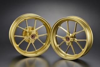 GROM(グロム) GP-TEN ホイールセット ゴールド 2.70/3.50-12 OVER(オーバーレーシング)