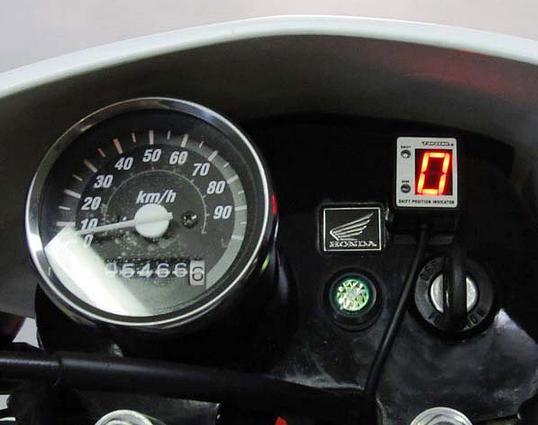 XR100 Motard(05~08年)12Vバッテリーレス車 SPI-M08 シフトポジションインジケーター車種専用キット PROTEC(プロテック)