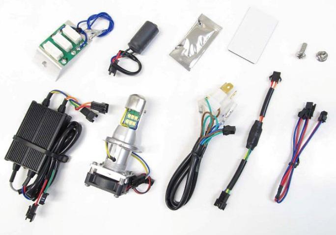 ベンリィ110/プロ(12~18年) LB4-BE LEDヘッドライトバルブキット HS1 Hi/Lo 6000K PROTEC(プロテック)