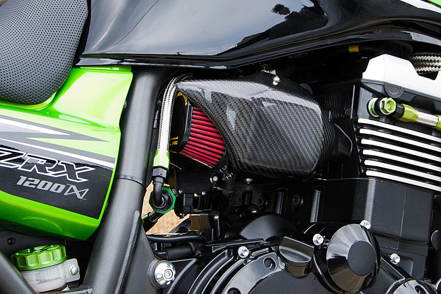 ZRX1200 DAEG(ダエグ) カーボンインジェクションカバー 綾織り PMC(ピーエムシー)