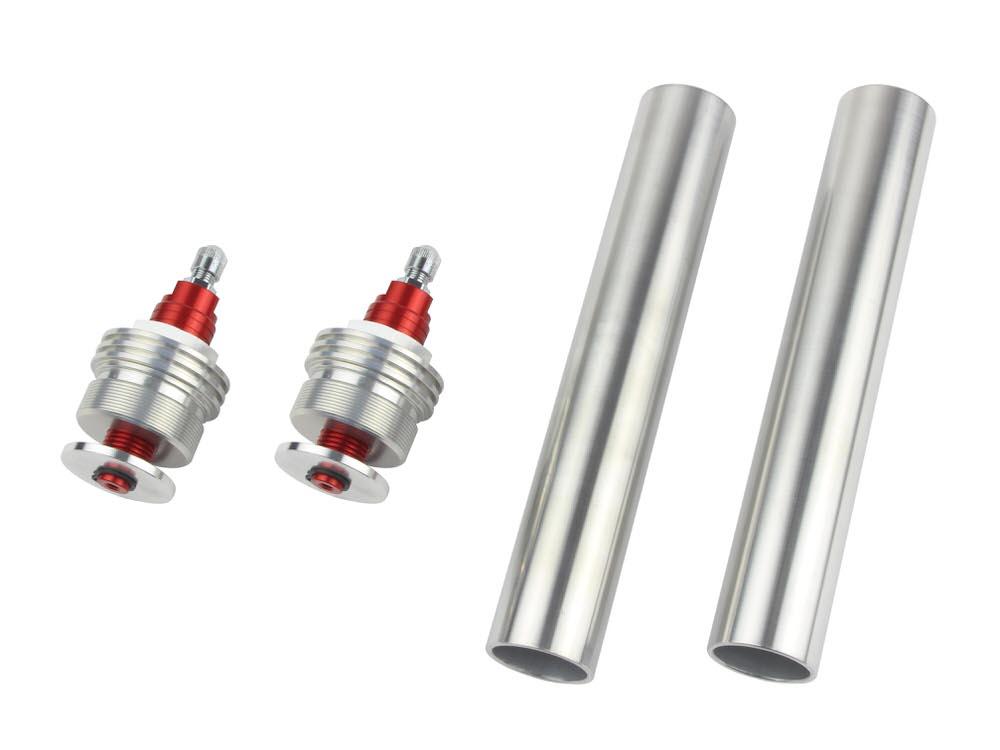 CB400SF/VersionS/V-TEC・SPEC2/3 イニシャルアジャスターTYPE1 エアバルブ付 レッド POSH(ポッシュ)