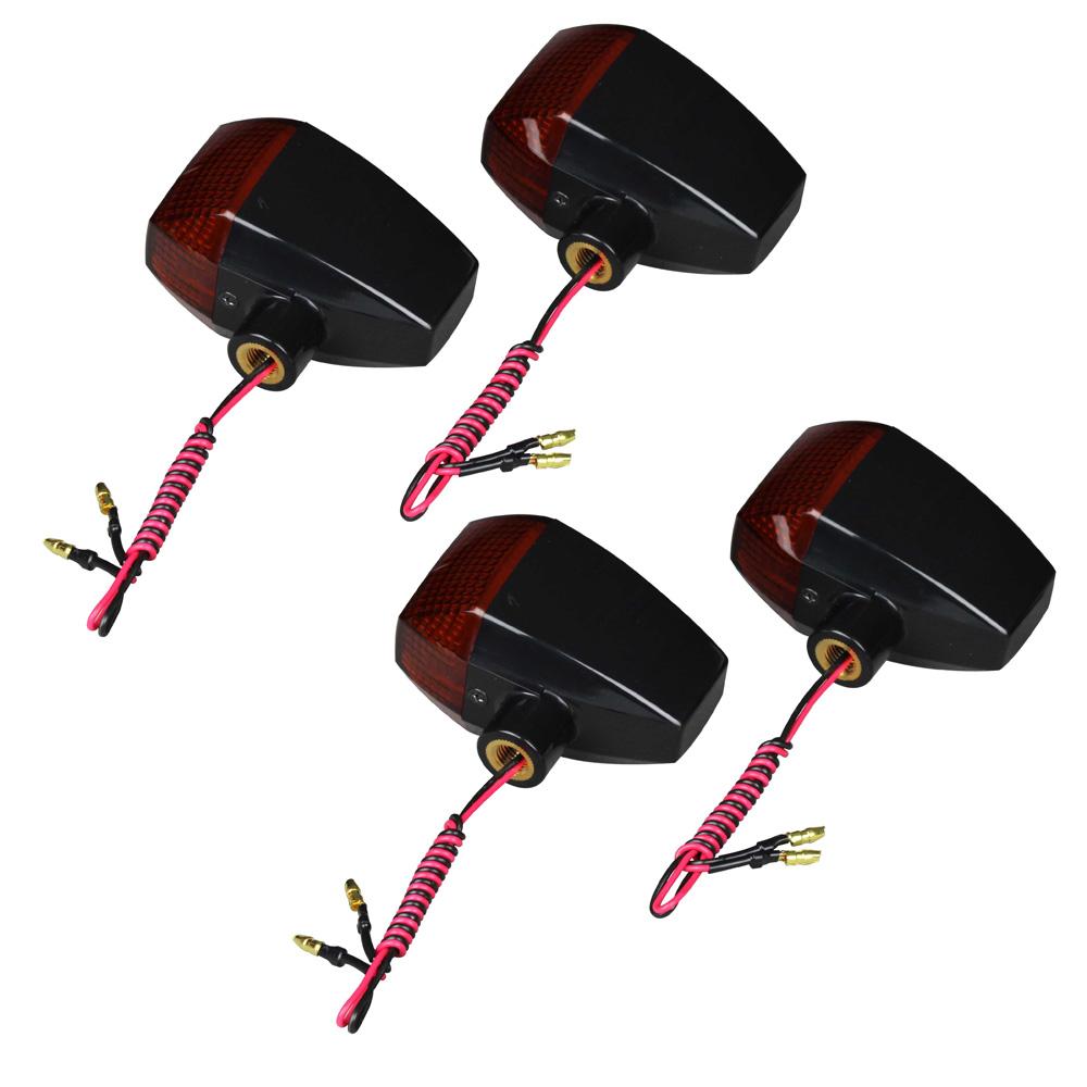 【送料無料】 ZRX1200R(04~08年) ZRタイプスタンダードレンズウインカーセット ブラックボディ/オレンジレンズ POSH(ポッシュ)