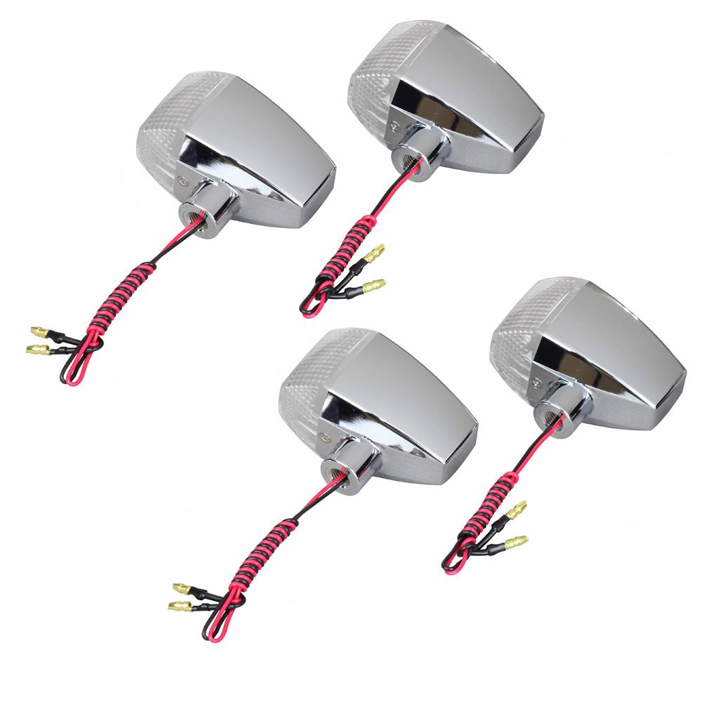 ZRX1200R(01~03年) ボルトオンLEDウインカーキット メッキ/クリア ZRタイプ(ダイアモンドカットレンズ STD) POSH(ポッシュ)
