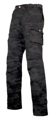 RR7459LF ライディングカーゴストレッチコットンパンツLF ブラックカモ SWサイズ ラフアンドロード(Rough&Road)
