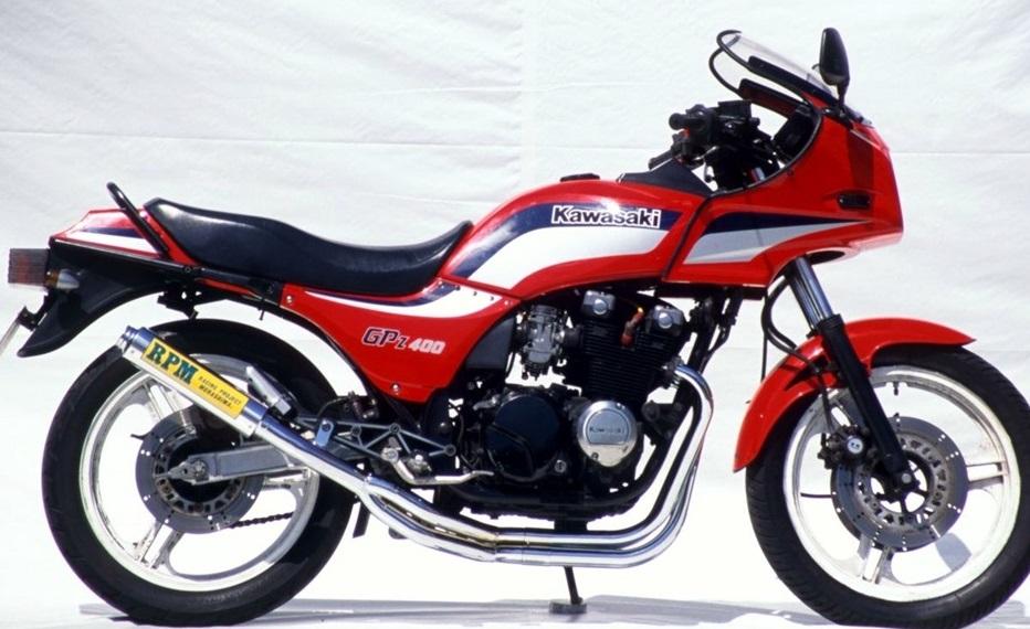 GPZ400F(F2)83年~ RPM-4-2-1マフラーステンレスサイレンサーカバー JMCA認定 RPM