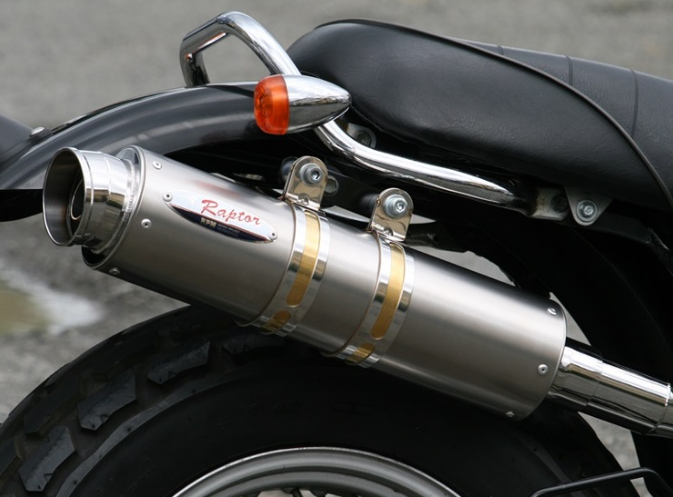 バンバン200(VANVAN)04~07年 80D-RAPTOR(ラプター) チタンフルエキゾーストマフラー 政府認証 RPM