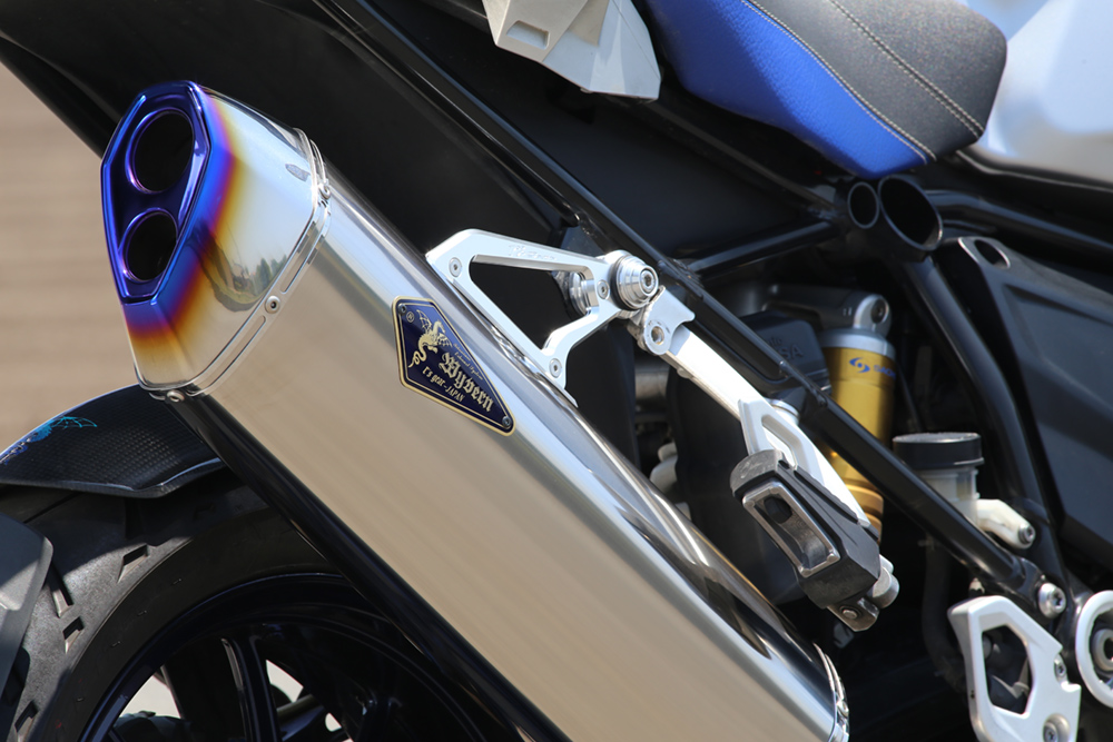 BMW 水冷 R1200GS/GS-A Wyvern Real Spec Single フルエキゾーストマフラー チタン r's gear(アールズギア)