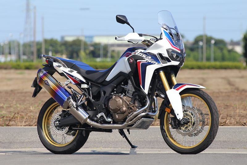 CRF1000L Africa Twin Wyvern(ワイバン) Real Spec Full Ex Single チタンフルエキゾースト チタンドラッグブルー r's gear(アールズギア)