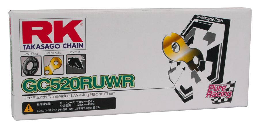 RUWRオンロードレーシングシリーズ GC520-100 シールチェーン ゴールドメッキ RK