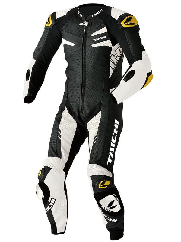 NXL306 GP-WRX R306 レーシングスーツ(TECH-AIR対応) TECH-AIR ブラック/ホワイト Lサイズ RSタイチ(RSTAICHI)