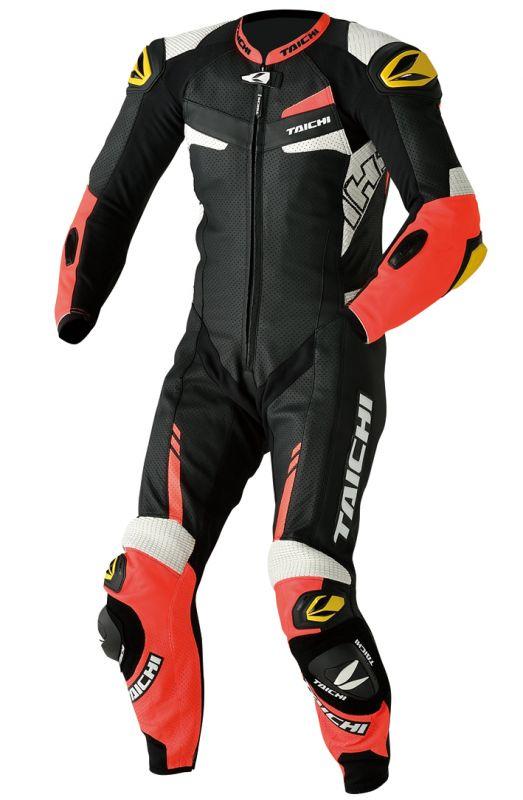NXL306 GP-WRX R306 レーシングスーツ(TECH-AIR対応) TECH-AIR ネオン レッド 3XL/58サイズ RSタイチ(RSTAICHI)