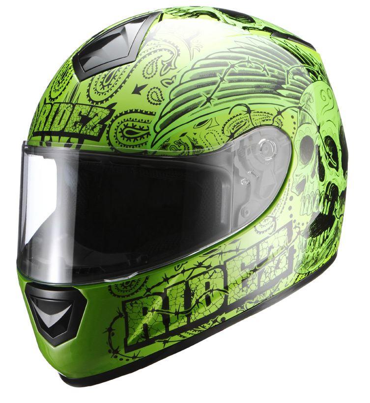 ハンドレッドヘルメット BarbedSkull グリーン Lフリーサイズ(57-60cm) RIDEZ(ライズ)