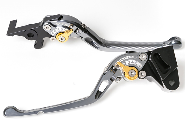 GSX-R750(04~05年) 可倒式アジャストレバー ブレーキ&クラッチセット チタン RIDEA(リデア)