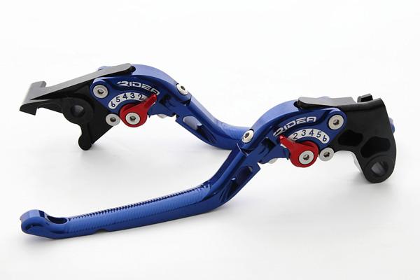 BANDIT650/S(バンディット) 可倒式アジャストレバー ブレーキ&クラッチセット ブルー RIDEA(リデア)