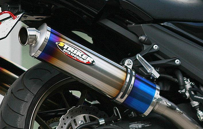 リペアサイレンサー オーバルチタン Φ60.5/480mm/チタンヒートカラー仕様 内径Φ50 レーシングコンセプト STRIKER(ストライカー)
