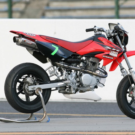 POWER MINI キャノンタイプマフラーB センター/UP1本出し オーバルチタン レーシング STRIKER(ストライカー) XR100