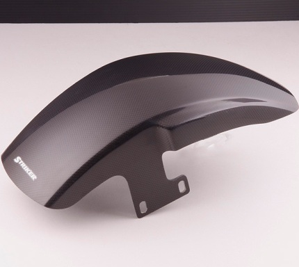 【送料無料】 STRIKER エアロデザイン スペシャルフロントフェンダーType1 カーボン カーボン STRIKER(ストライカー) ゼファー1100(ZEPHYR)