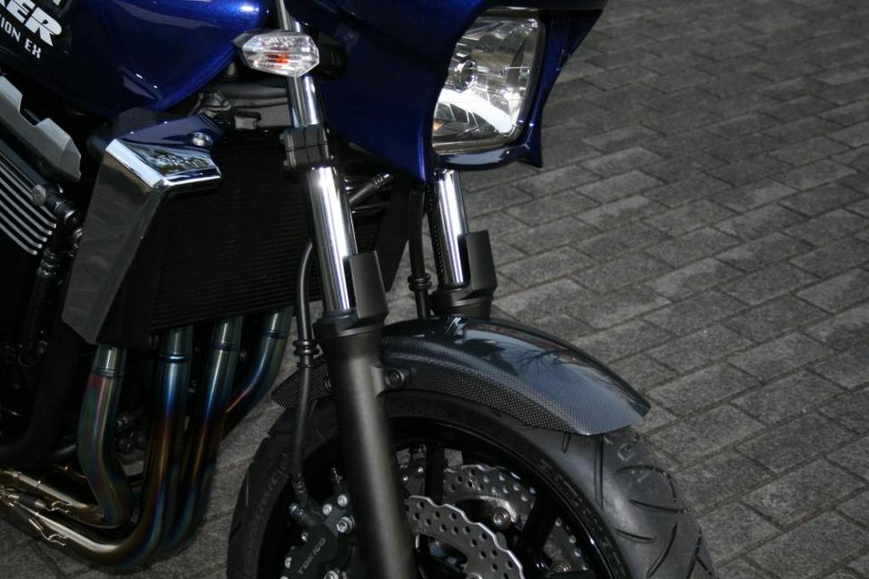 ZRX1200 DAEG(ダエグ) エアロデザイン SAD外装セット カーボンフロントフェンダー+カーボンリアフェンダーSTD STRIKER(ストライカー)