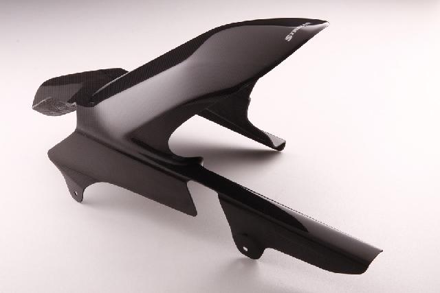 ゼファー1100(ZEPHYR) エアロデザイン(SAD)リヤフェンダー 黒ゲルコート仕上げ ノーマルスイングアーム用 STRIKER(ストライカー)