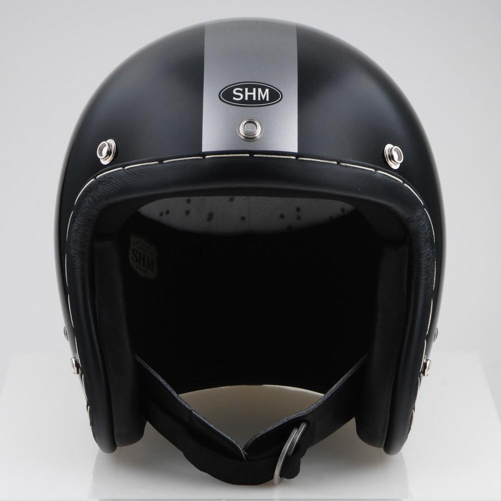 HAND STITCH Lot-102 ジェットヘルメット ブラック/ダークシルバー M(57cm~58cm) SHM