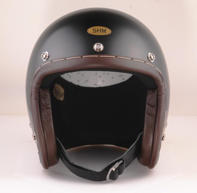 送料無料 HAND STITCH Lot-104 ジェットヘルメット マート SHM 売却 ブラック 55cm~56cm S