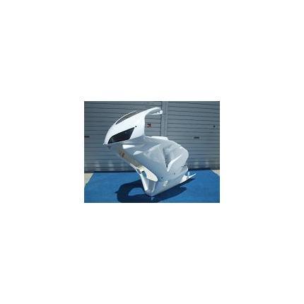 600RRレプリカフルカウル 片目耐久 白ゲル スモークレンズ NSR250R(MC21/MC28)90年~ SAITANIYA(才谷屋ファクトリー)