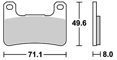 806DS レーシング(デュアルシンター)ブレーキパッド SBS(エスビーエス)